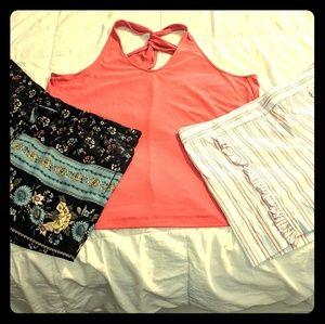 Ann Taylor Loft Shirt & 2 Shorts